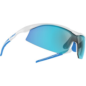 Bliz Prime M9 Brille, shiny white/smoke with blue multi